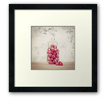 Red - Rainbow collection part 1 Framed Print