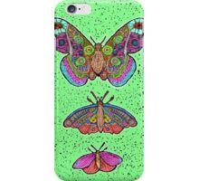 Moths only butterflies iPhone Case/Skin