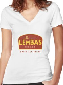 Lembas Women's Fitted V-Neck T-Shirt