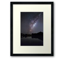 Milky Way Reflections Framed Print