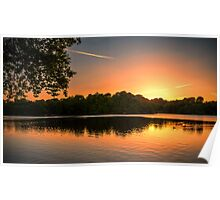 Sunset over a Peaceful Place Poster
