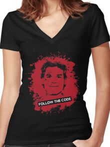 Follow The Code Women's Fitted V-Neck T-Shirt
