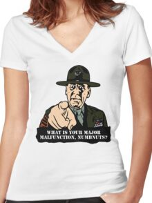Gny. Sgt. Hartman Women's Fitted V-Neck T-Shirt