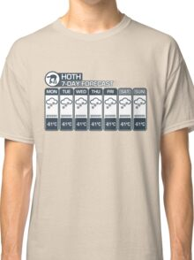 Hoth - 7 Day Forecast Classic T-Shirt