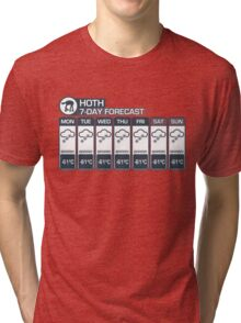 Hoth - 7 Day Forecast Tri-blend T-Shirt