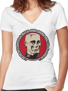 Kryten - Spin My Nipple Nuts Women's Fitted V-Neck T-Shirt