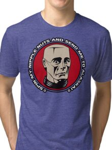 Kryten - Spin My Nipple Nuts Tri-blend T-Shirt