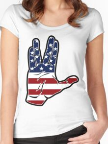 Live Long and Prosper Women's Fitted Scoop T-Shirt