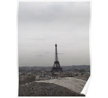 The Eiffel Tower from the Arc De Triomphe Poster