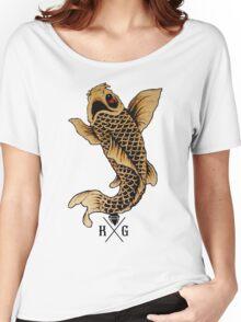 King Gizmo Koi {White} Women's Relaxed Fit T-Shirt