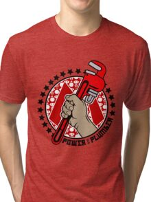 Power To The Plumber Tri-blend T-Shirt