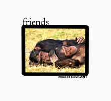 Chimpanzee Friends Womens Fitted T-Shirt