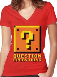 Question Everything Women's Fitted V-Neck T-Shirt