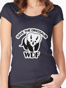 Save The Dinosaur Women's Fitted Scoop T-Shirt