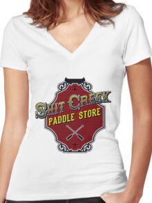 Shit Creek Paddle Store Women's Fitted V-Neck T-Shirt