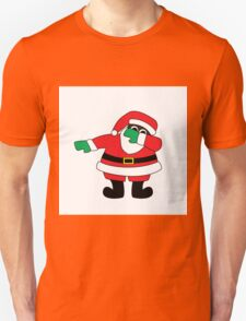 Santa Claus Dab- Black T-Shirt
