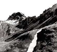 The road below the mountains by RikReimert