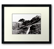 The road below the mountains Framed Print