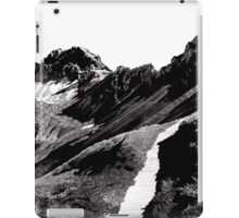 The road below the mountains iPad Case/Skin