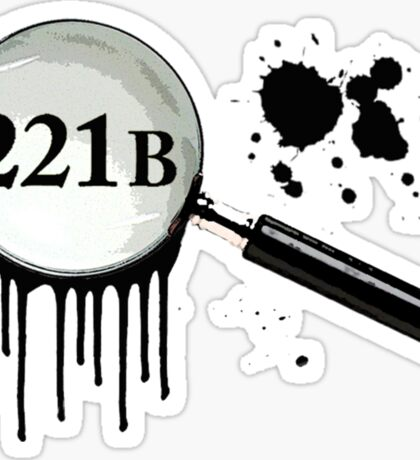 221B Baker Street Sticker