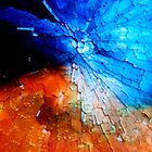 Gold & cobalt mosaic by Christophe Claudel