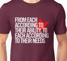 From each according to their ability... Unisex T-Shirt