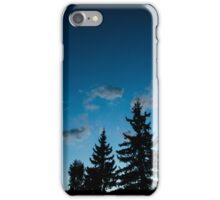 Blue trees in nature iPhone Case/Skin