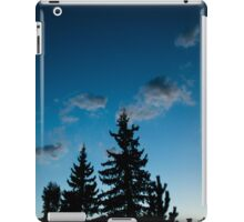 Blue trees in nature iPad Case/Skin