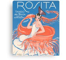 ROSITA (vintage illustration) Canvas Print