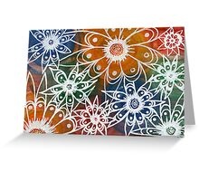 white doodles Greeting Card