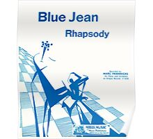Blue Jean Rhapsody (vintage illustration) Poster