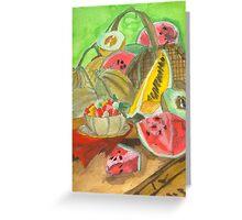 Summer Produce Watercolors Greeting Card