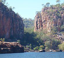 Katherine Gorge Northern Territory Australia by Virginia  McGowan
