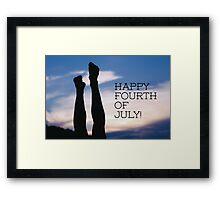 Happy Fourth of July! Framed Print