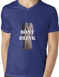 Don't Blink, Blink and You're Dead Mens V-Neck T-Shirt