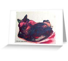 Repose, Sleeping Cat Greeting Card