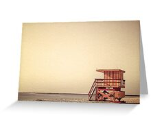 Beach Lifeguard Hut Greeting Card