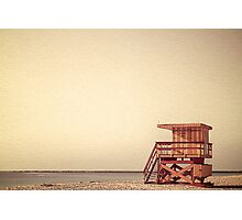 Beach Lifeguard Hut Photographic Print