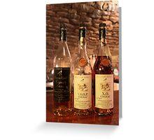 Cognac tasting in a La Rochelle cellar Greeting Card