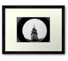 Obelisk of Infinite Height - Lomo Framed Print