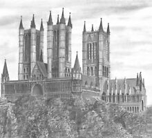 Lincoln Cathedral drawing by Chris-Cox