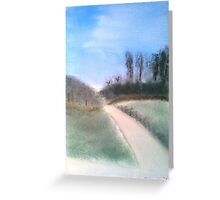 Going for a walk down memory lane - Oil Painting Greeting Card