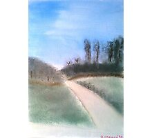 Going for a walk down memory lane - Oil Painting Photographic Print
