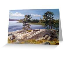 Stones and pines Greeting Card