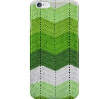 Green Crocheted Afghan Blanket iPhone Case/Skin