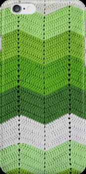 Green Crocheted Afghan Blanket by GreenSpeed