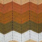 Orange Crocheted Afghan Blanket by GreenSpeed