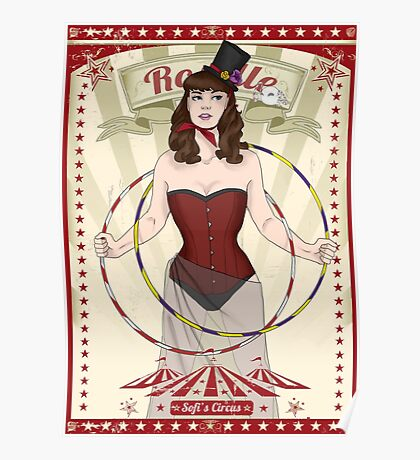 Roselle the hoop dancer Poster