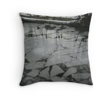 Ice Floe Mosaic Throw Pillow