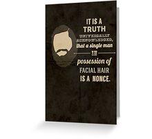 A beardy truth Greeting Card